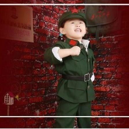 儿童红军表演服装