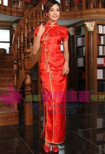 长款礼仪服,旗袍