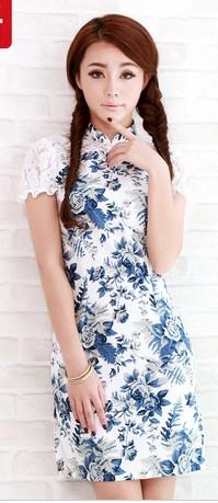 青花瓷旗袍,服装