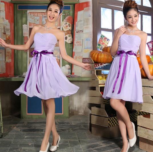 淡紫色小礼服
