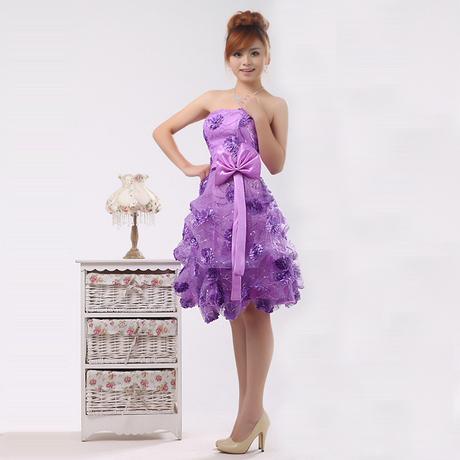 短款礼服,紫色