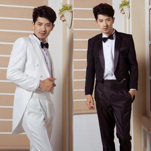 燕尾服装,黑色和白色