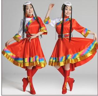 藏族的演出服装