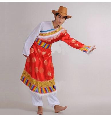藏式男装,红色