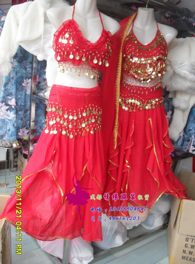 肚皮舞服装,红色款
