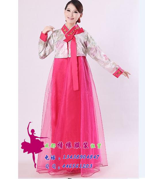 韩国民族红色服饰