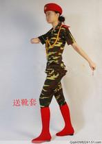 女生迷彩舞蹈服装