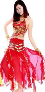 印度舞服装红色装