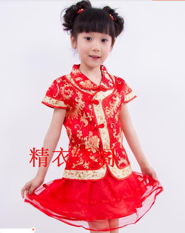 儿童唐装舞服