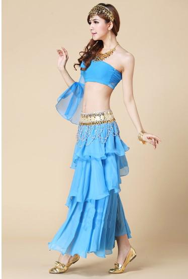印度舞蓝色服装