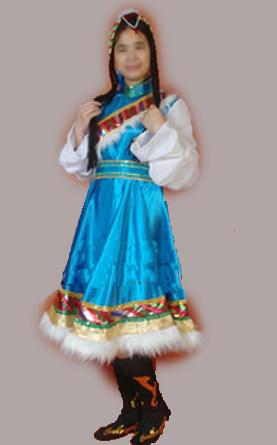 藏族服饰蓝色裙