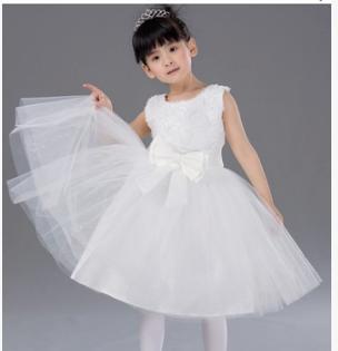儿童白色裙