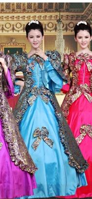 蓝色欧式宫廷服