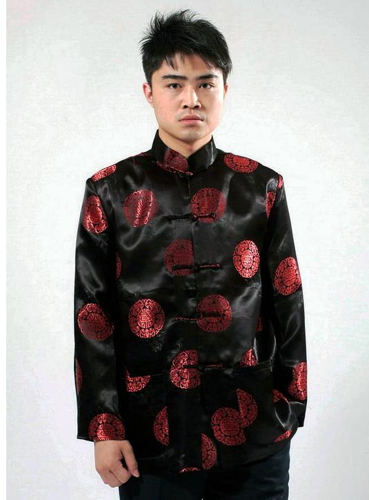 男式唐式黑色服装