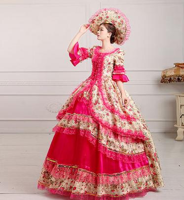 欧式宫廷女装红色增强版