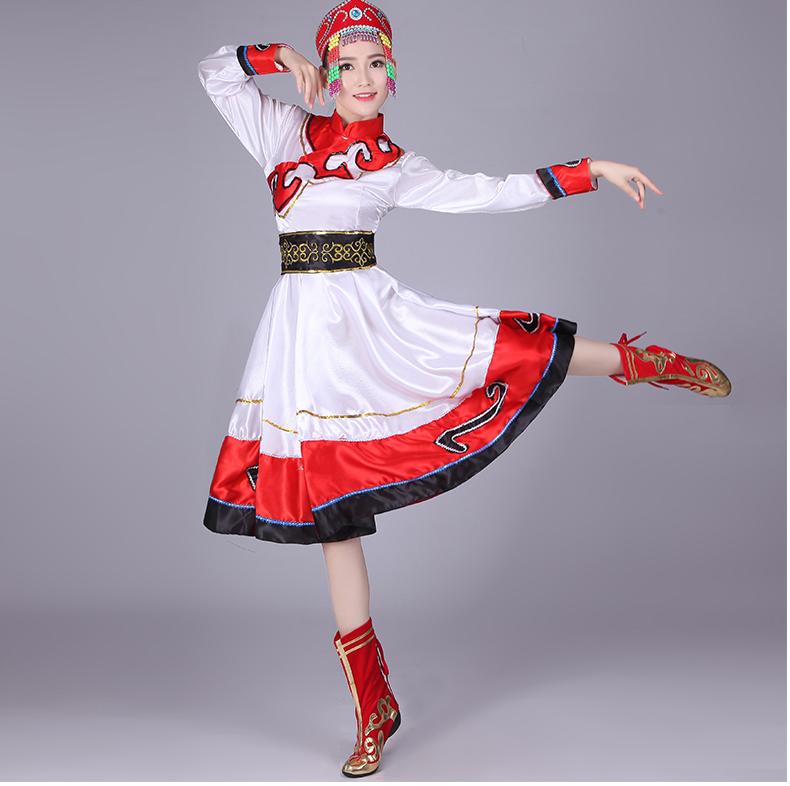 蒙古舞蹈女生服装